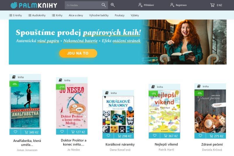 Na Palmknihy.cz dorazily tištěné knihy